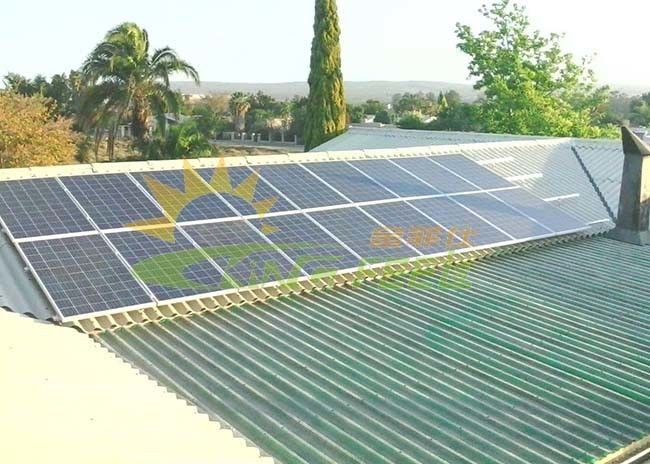 Easily Installed Photovoltaic Mounting System With Anodizing Surface Treatment